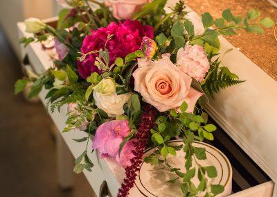 dessert table flowers, buffet